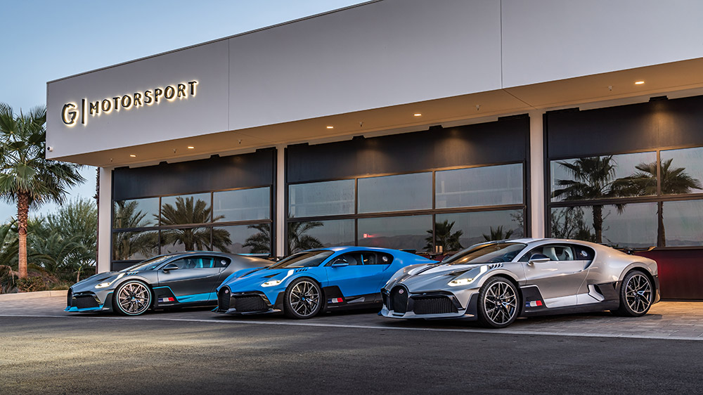 US West Coast Bugatti Divo Deliveries Stop at The Thermal Club in Palm Desert