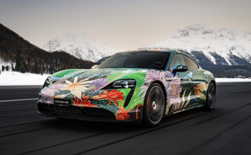 Artist Richard Phillips Porsche Taycan Artcar Charity Auction