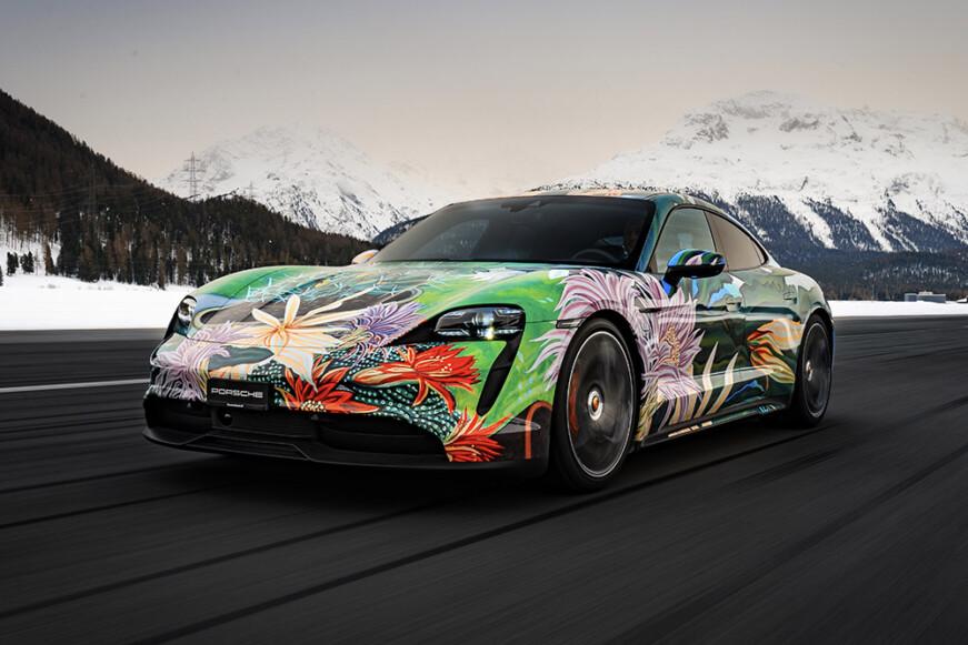Artist Richard Phillips Porsche Taycan Artcar Charity Auction