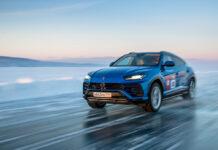 Lamborghini Urus Lake Baikal Speed Record
