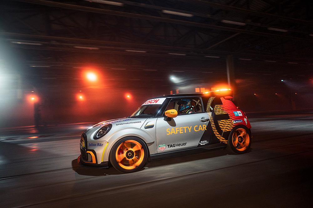 The MINI Electric Pacesetter FIA Formula E Safety Car
