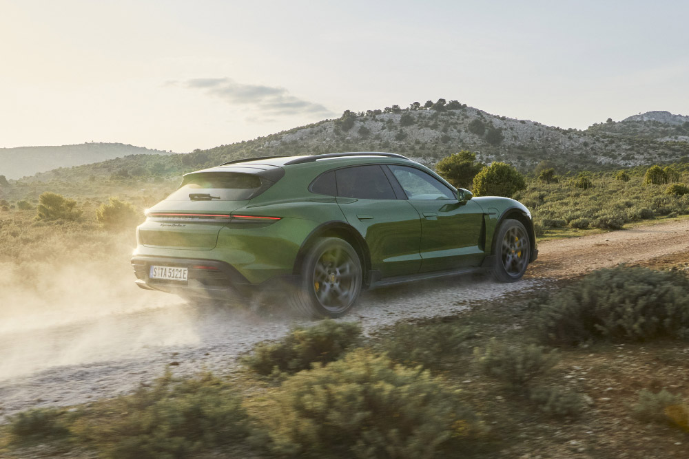 Porsche Taycan Turbo S Cross Turismo with Off Road Design Package