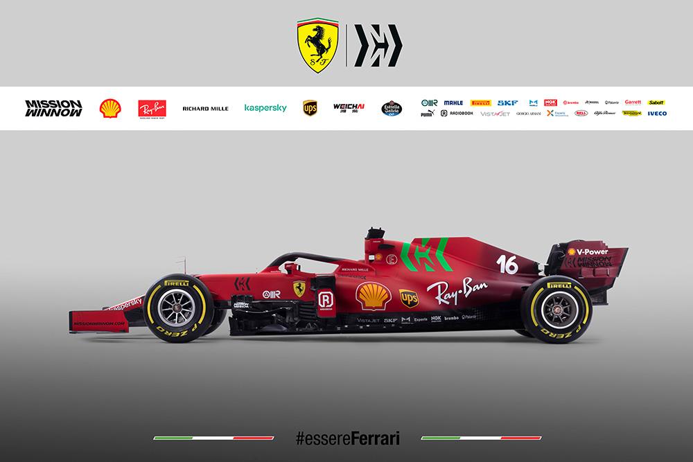 Scuderia Ferrari Mission Winnow SF21 F1 Race Car