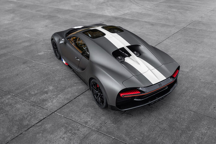 Bugatti unveils the Chiron Sport Les Légendes du Ciel in Saudi Arabia