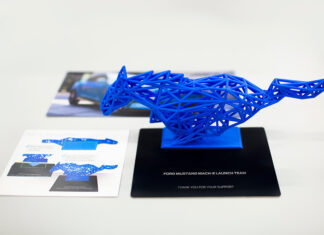 Ford Mustang Mach-E 3D Printed Pony Sculptures for Customers