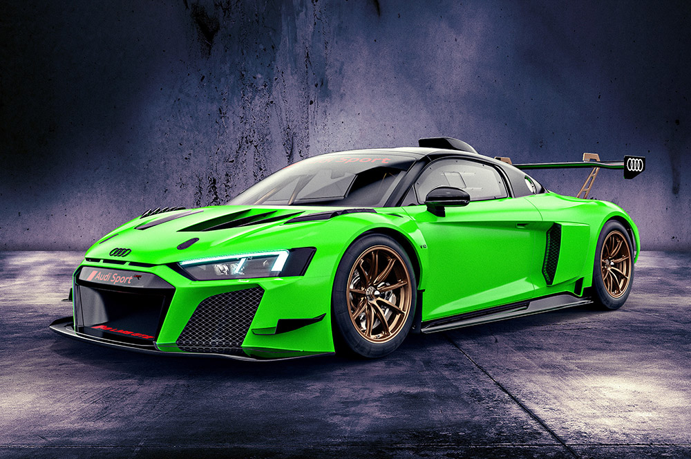 Exclusive Bespoke Color Edition of the Audi R8 LMS GT2