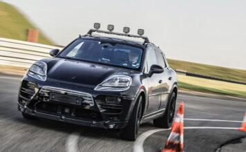 Electric Porsche Macan begins on-road development testing