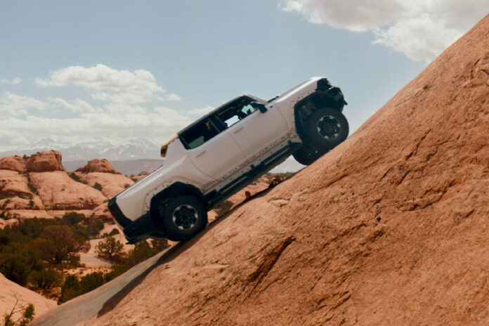 GMC HUMMER EV Moab Trails Testing
