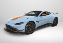 Gulf Blue Aston Martin Vantage Heritage Racing Edition at Bonhams Hong Kong Auction