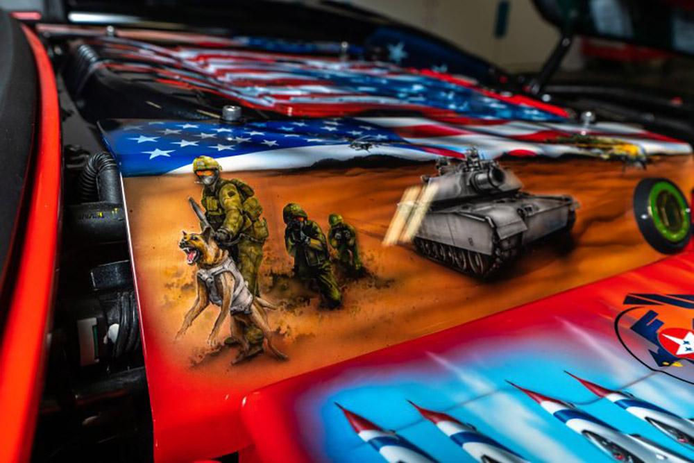 Karl Kustoms z06 Corvette Military Tribute