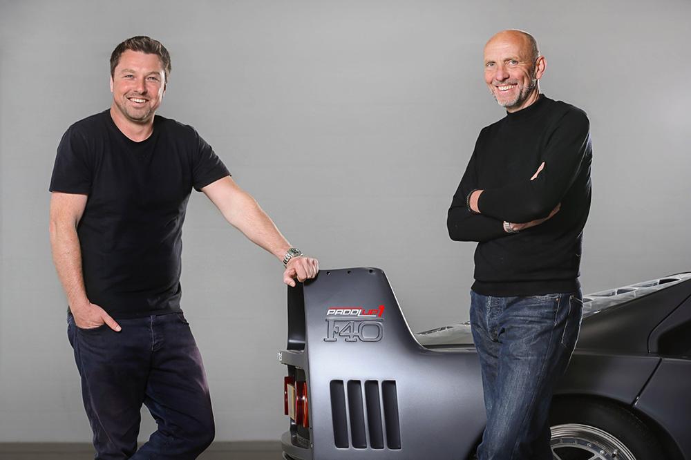 Paddlup new supercar sales platform and Ferrari F40 Promo Vehicle