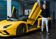 Football Star Paulo Dybala new Lamborghini Aventador S Roadster