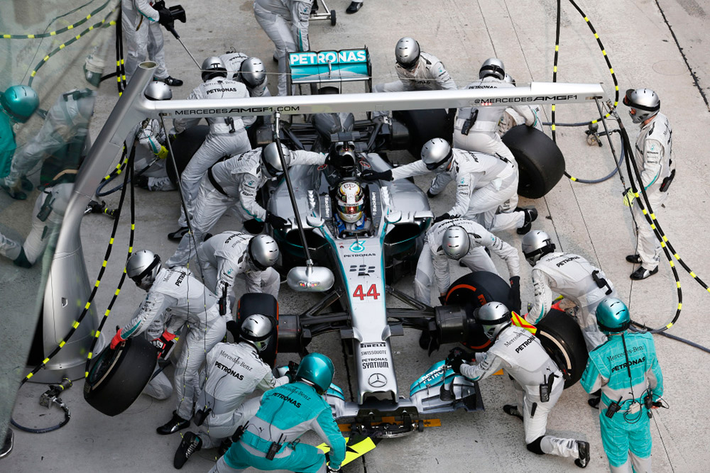 Seven Silver Arrows F1 Cars at the Mercedes-Benz Museum