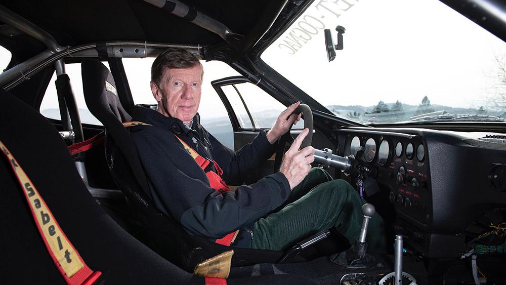 Walter Röhrl and the Restored 924 Carrera GTS Rally