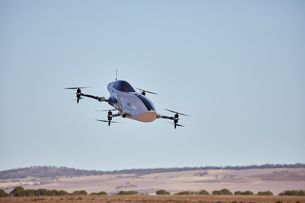 Airspeeder Flying Race Car First Flight