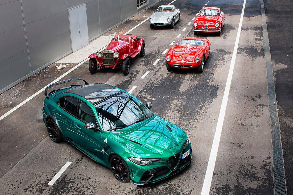 Alfa Romeo at the 39th historic run of the 1000 Miglia