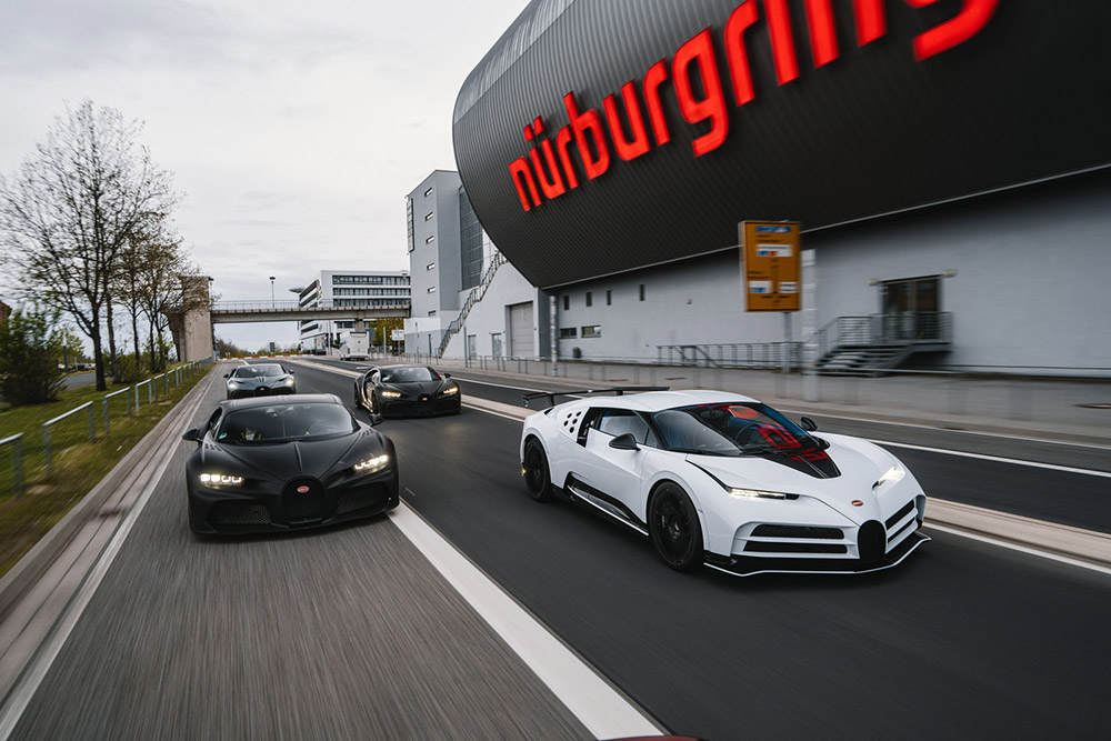 Bugatti Centodieci and Chiron Super Sport 300 on the Nürburgring Nordschleife