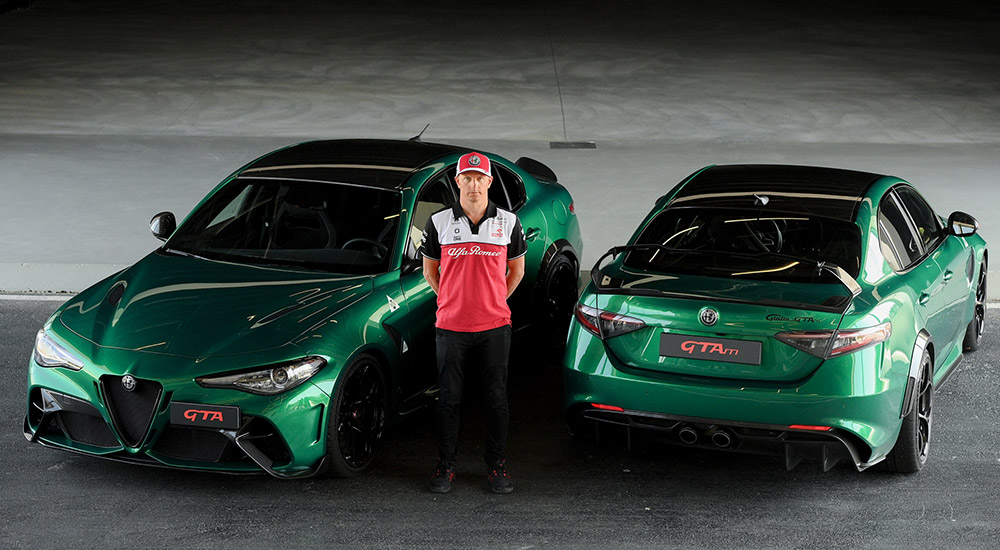 Kimi Räikkönen tests the Alfa Romeo Giulia GTA