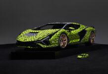 Life-Size LEGO Technic Lamborghini Sián FKP 37