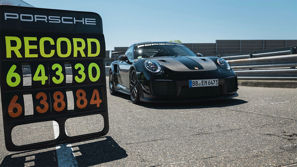 Porsche 911 GT2 RS Sets New Lap Record at the Nürburgring Nordschleife