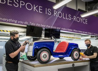Rolls-Royce SRH electric car created for St Richard's Hospital, Chichester