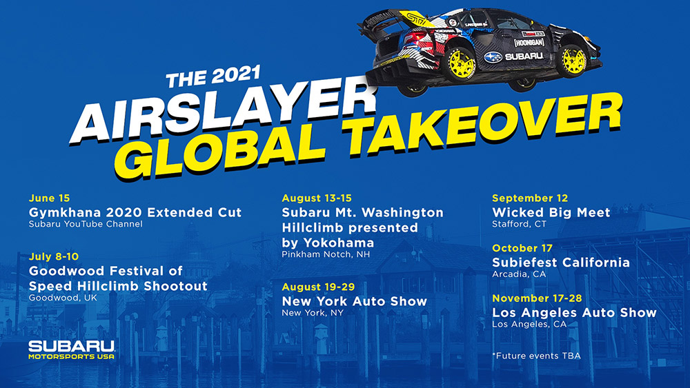 Subaru Airslayer Global Takeover Competition and Display Tour