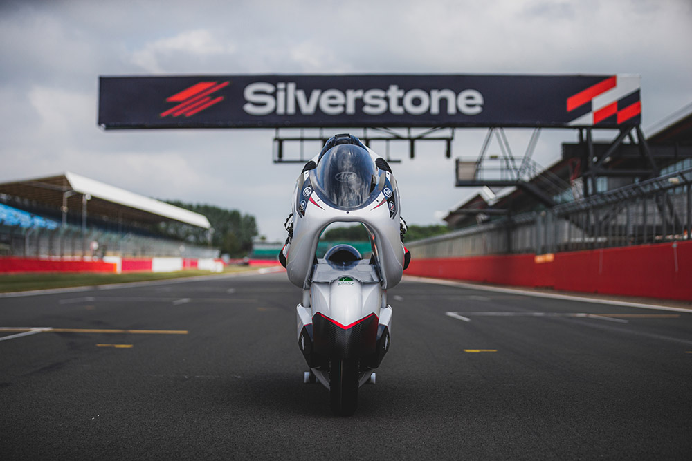 White Motorcycle Concepts Targets World Electric Land Speed Record