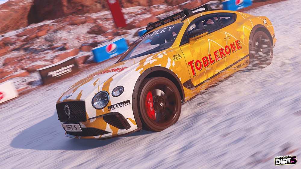 Bentley Continental GT Ice Race Car addition to the DIRT 5 game