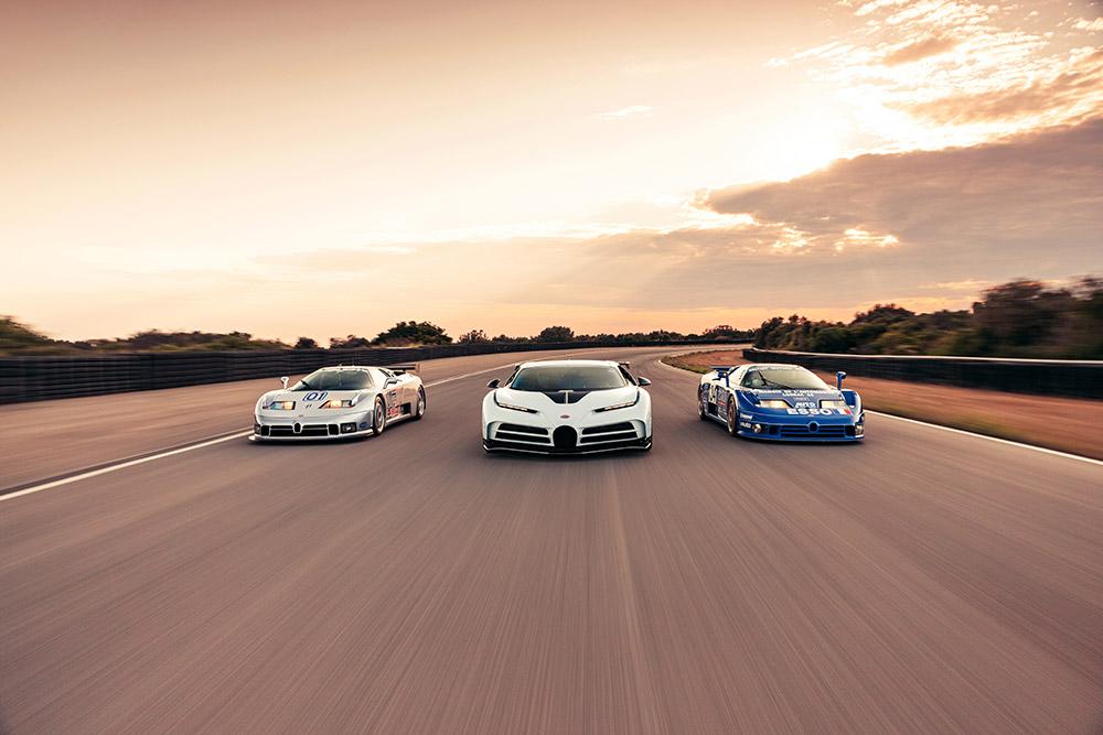 Bugatti Centodieci Meets the Bugatti 110 icons