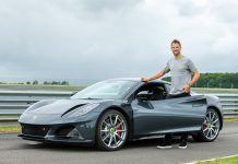 Jensen Button Drives the New Lotus Emira Sports Car