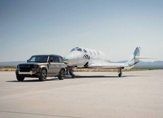 Land Rover supports Sir Richard branson Virgin Galactic Space Flight