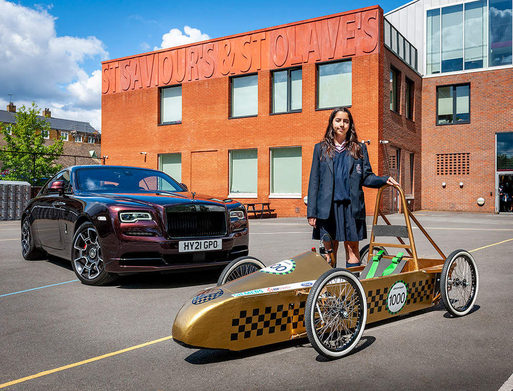 Young Designer Competition winner Sophia takes delivery of Greenpower car