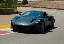Lotus Emira arrives in the USA with F1 legend Jenson Button at the wheel for thrilling Laguna Seca film