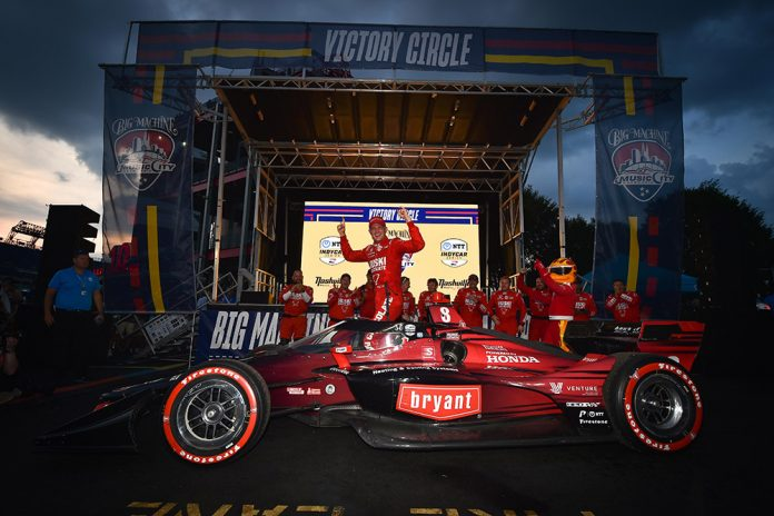 Marcus Ericcson Wins Big Machine Music City Grand Prix