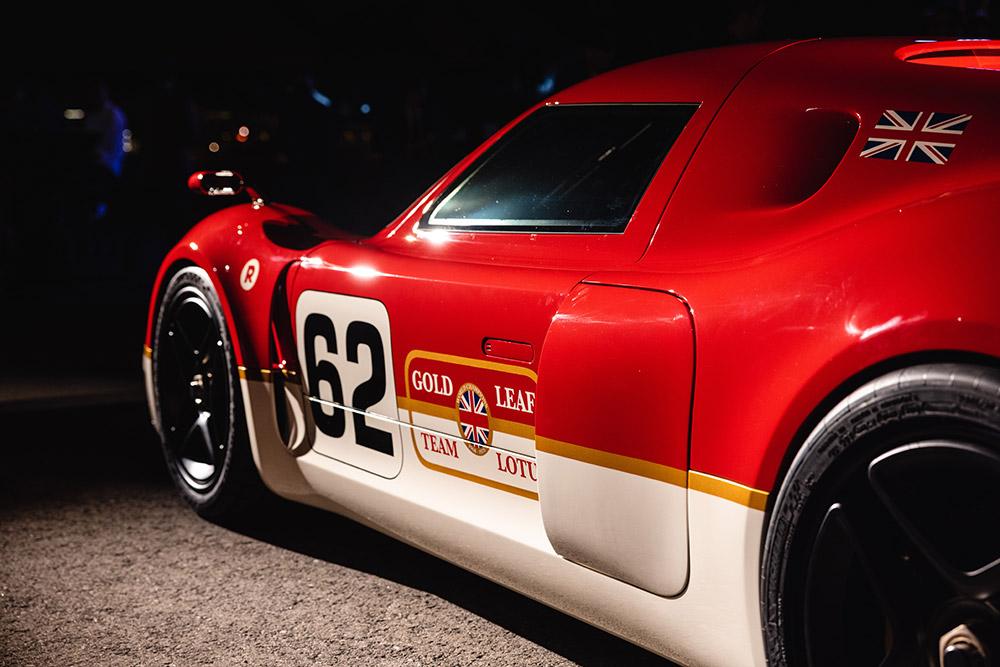 Radford Gold Leaf Lotus Type 62-2 Debut at The Quail