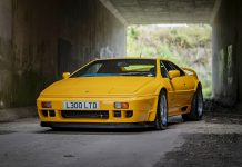 sextet of iconic and rare Lotus Esprit head for auction