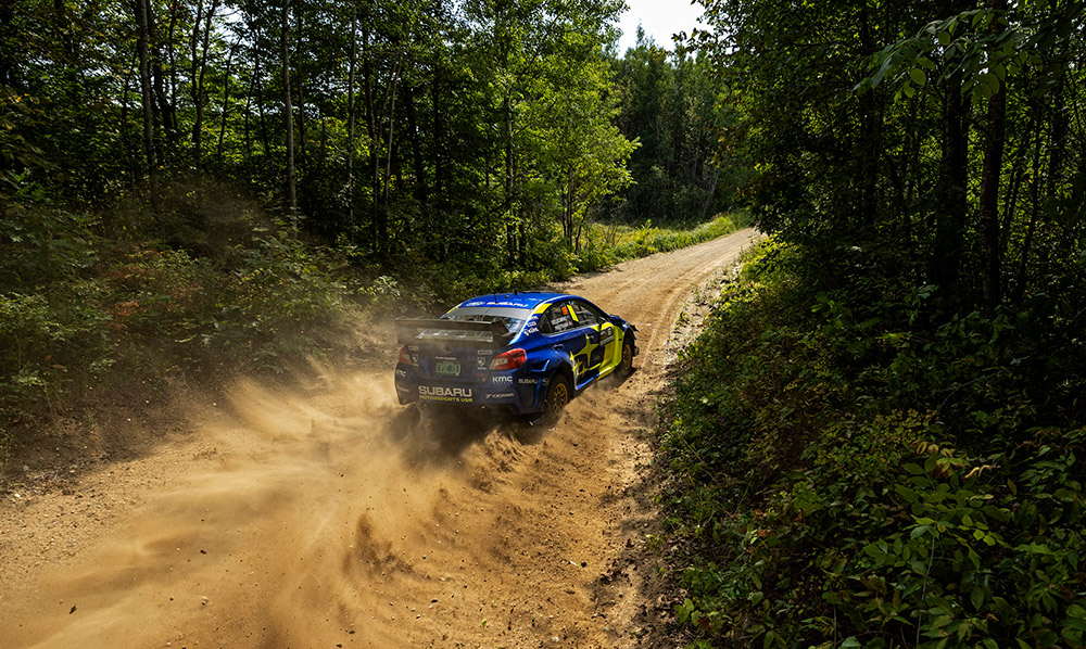 Subaru and Travis Pastrana Earn Ojibwe Rally Win and Secure National Rally Championship