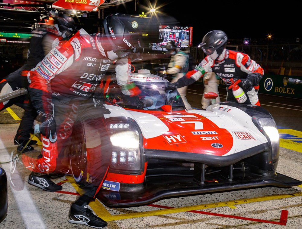 Victory at the 24 Hours of Le Mans 2021 was sealed by the No. 7 TOYOTA GAZOO Racing
