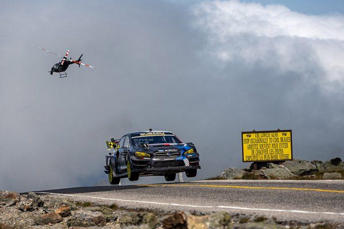 Travis Pastrana Subaru WRX STI shatter Mt. Washington Hillclimb record