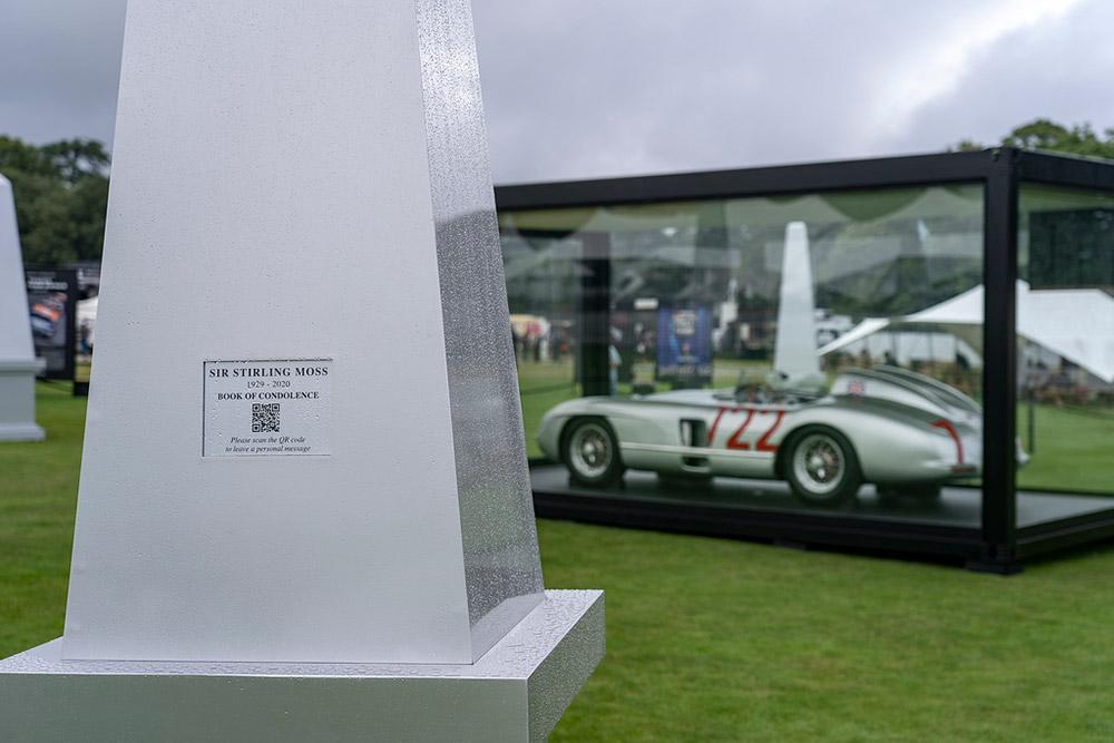 Sir Stirling Moss Mercedes-Benz 300 SLR at 2021 Goodwood Revival