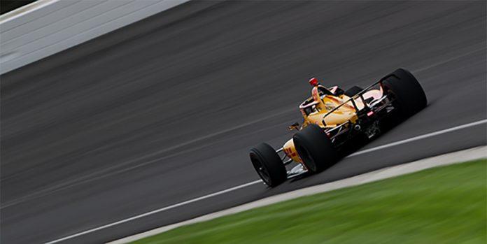 Jimmie Johnson and Romain Grosjean Indianapolis Motor Speedway oval Test