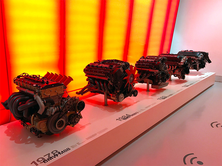 Engines at the BMW Museum