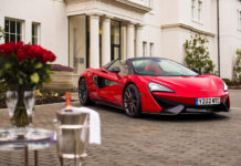 Red McLaren 570S Spider Valentines Day