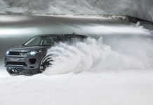 Land Rover Snow Tunnel Challenge