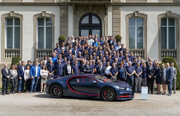 100th Bugatti Chiron