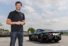 Mark Webber Tests Porsche Mission E
