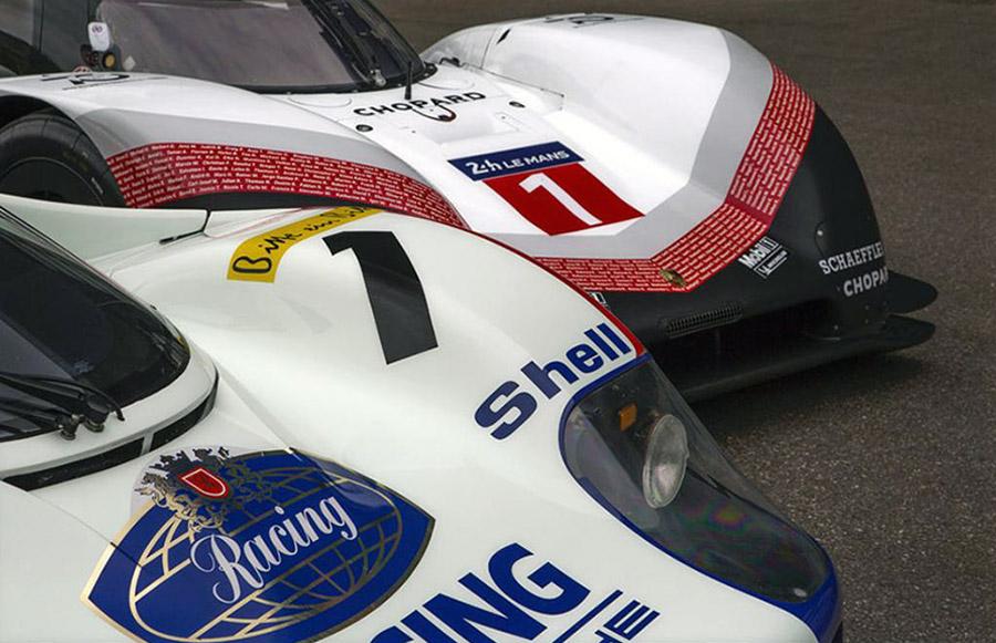 Porsche 919 Hybrid Evo and the Porsche 956 C Nurburgring