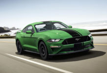 Green 2019 Ford Mustang