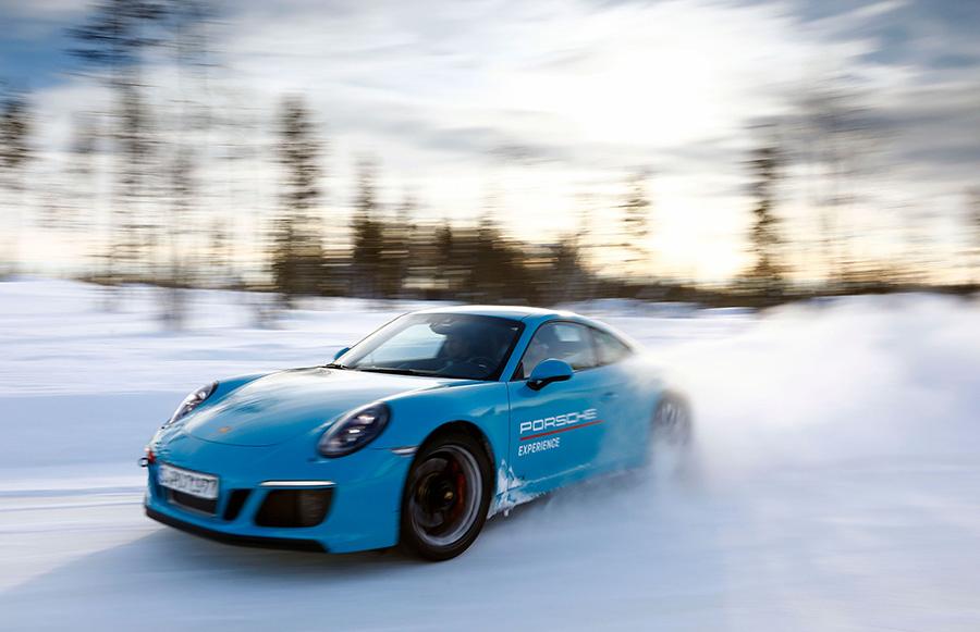 Automotive News Porsche Ice Experience